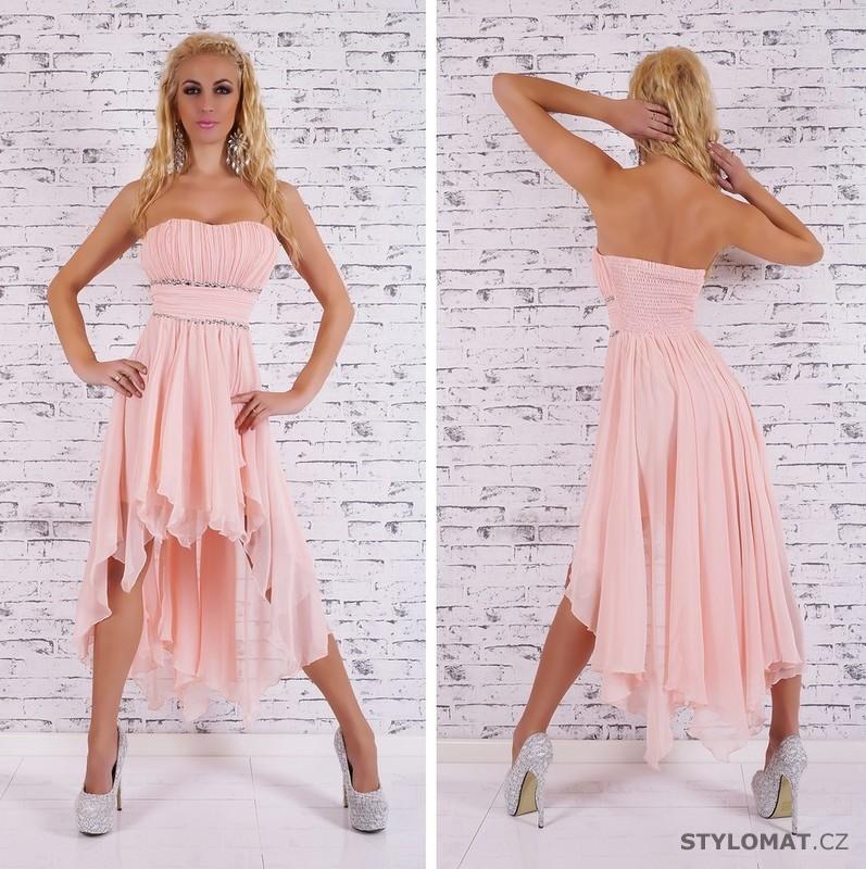 Společenské světle růžové šaty - EU - Krátké společenské šaty bb93490526