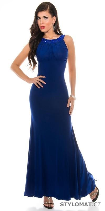 Modré plesové šaty dlouhé - Koucla - Dlouhé společenské šaty aa3566ad0c
