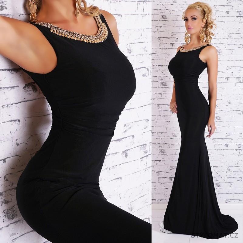 Černé dlouhé společenské šaty - EU - Dlouhé společenské šaty 543475b8a4