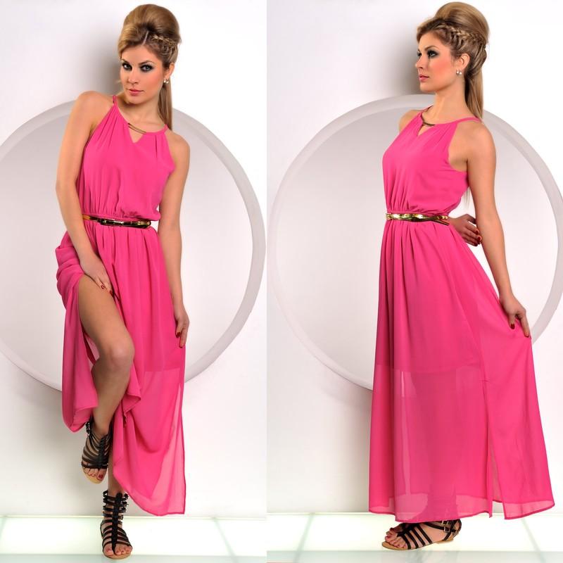 585e69567e8 Růžové dlouhé šaty se spodničkou - Fashion - Dlouhé letní šaty