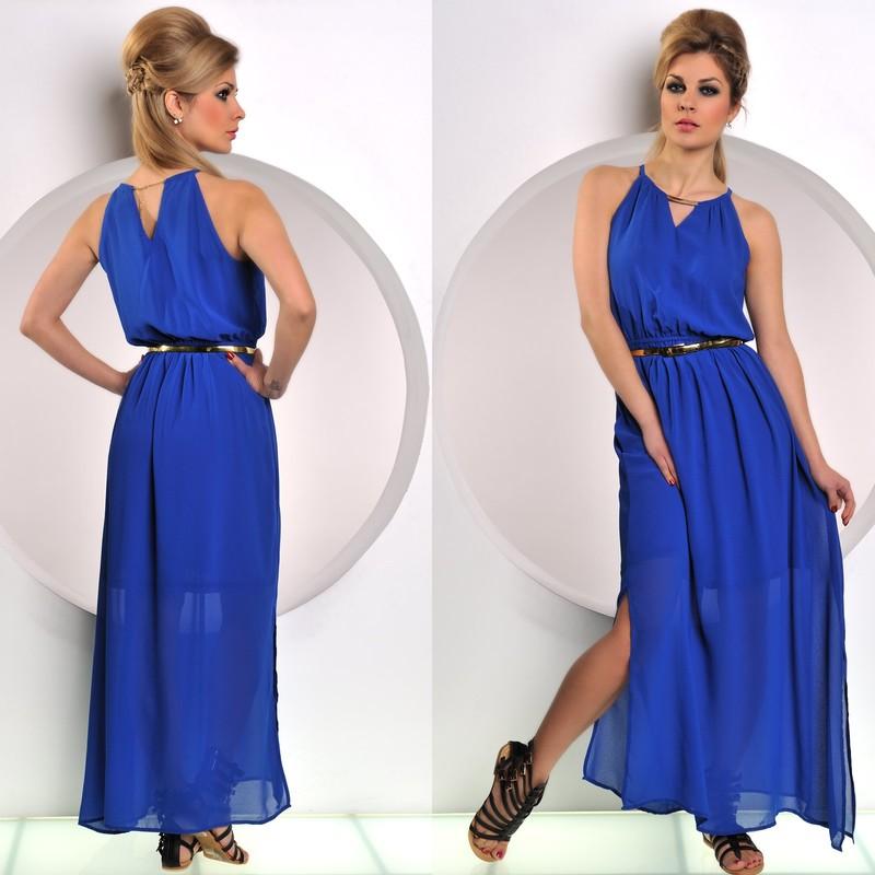 Modré antické šaty - Fashion - Dlouhé letní šaty 6f8e58df38