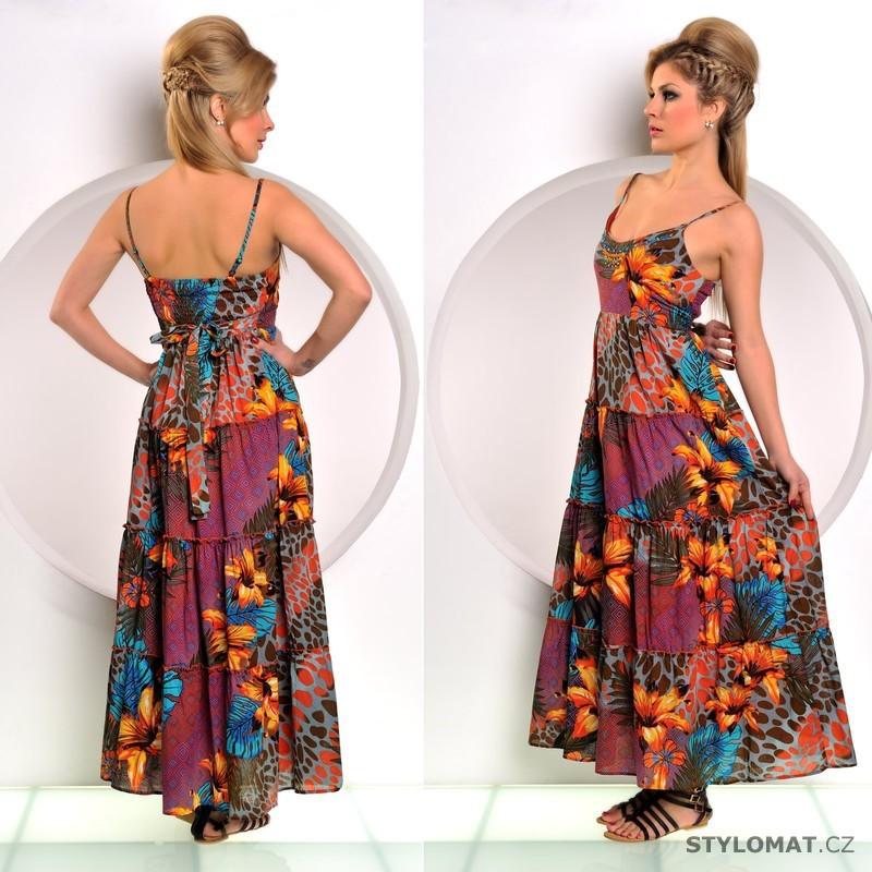 c769ed547b1 Letní dlouhé šaty zdobené květy - Fashion - Dlouhé letní šaty