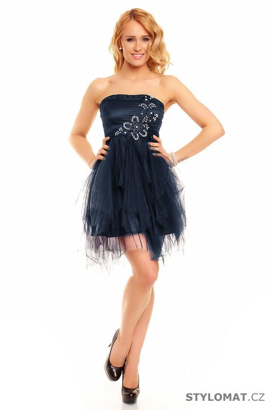 303321de362 Modré plesové šaty - Ethina - Krátké společenské šaty