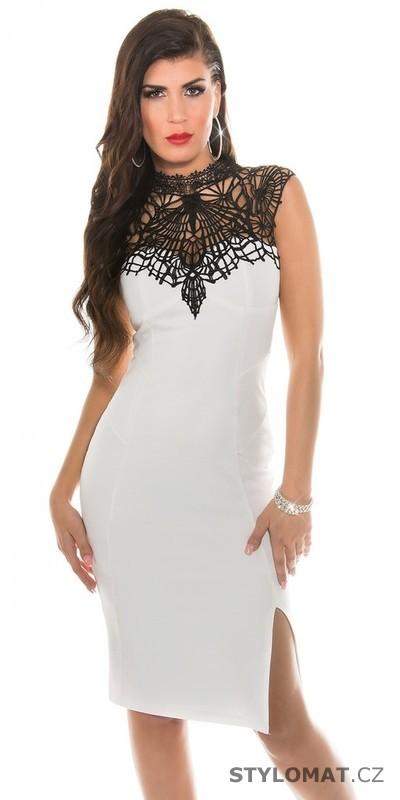 Bílé elegantní společenské šaty - Koucla - Party a koktejlové šaty b0226d4350