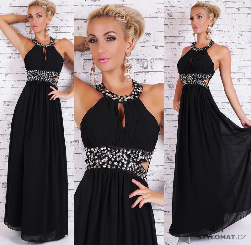 Černé dlouhé večerní šaty - EU - Dlouhé společenské šaty 2a9f253661