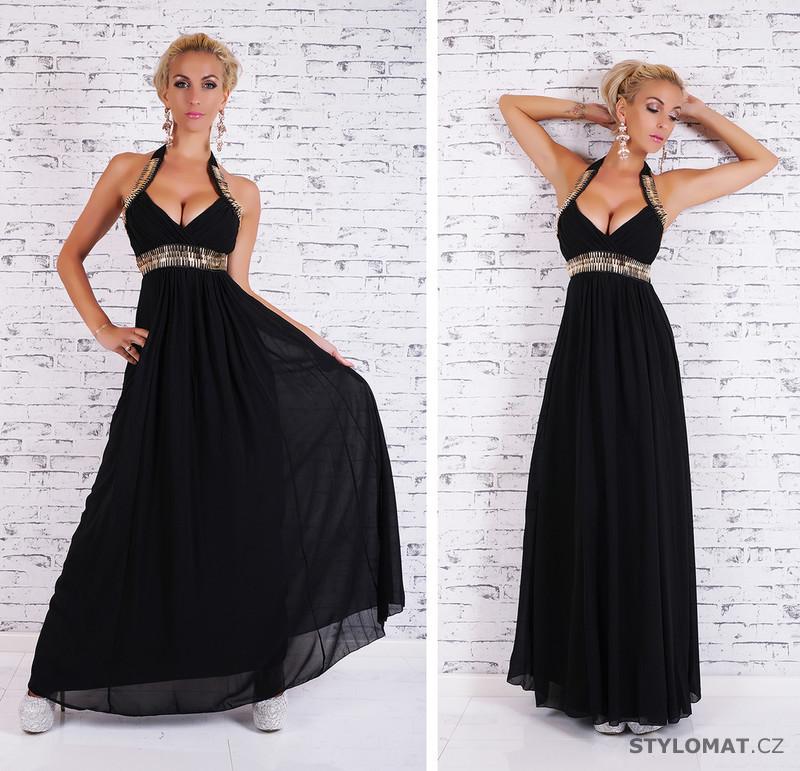 Dlouhé černé večerní šaty - EU - Dlouhé společenské šaty 63bc401995