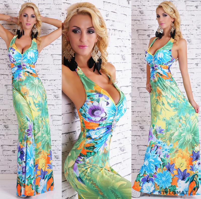 Dámské dlouhé letní šaty s květinovým vzorem - jiny - Dlouhé letní šaty b4d0fce404