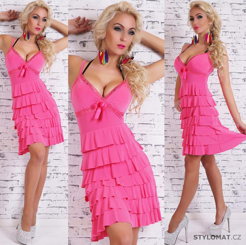 a876a0a0fe1 Krátké růžové letní šaty - EU - Krátké letní šaty