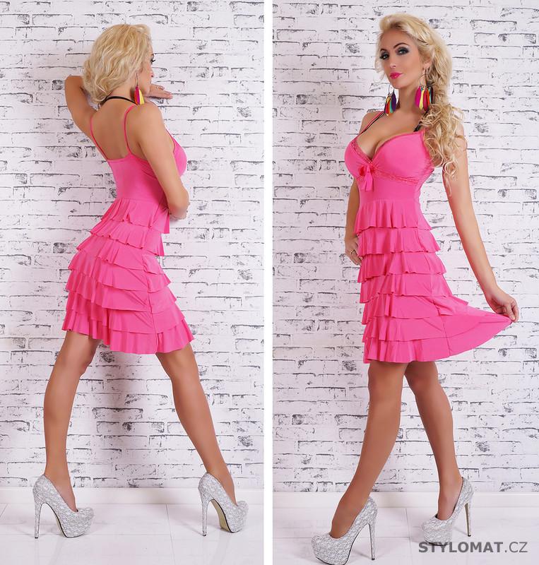 Krátké růžové letní šaty - EU - Krátké letní šaty fe9906a592