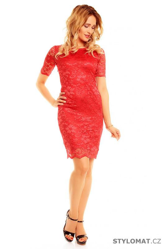 232a5857b08 Dámské červené večerní šaty - Mayaadi - Party a koktejlové šaty