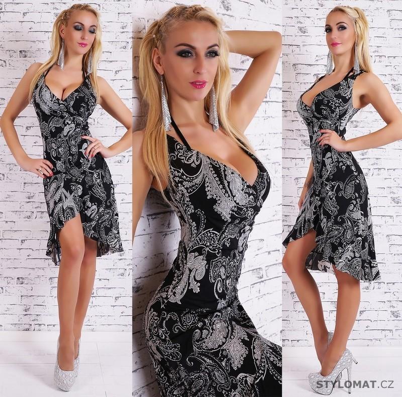5d5874c3c19 Dámské černé vzorované šaty - Koucla - Krátké letní šaty
