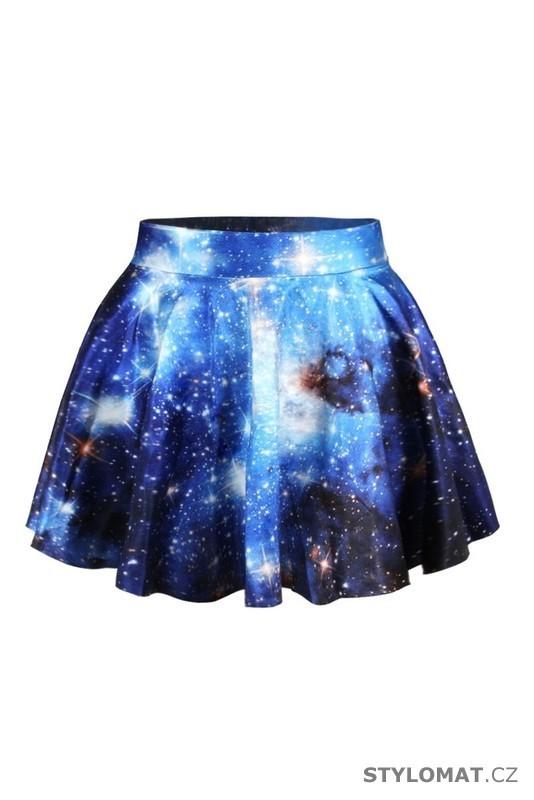 edf0dc3c755 Letní modrá galaxy sukně
