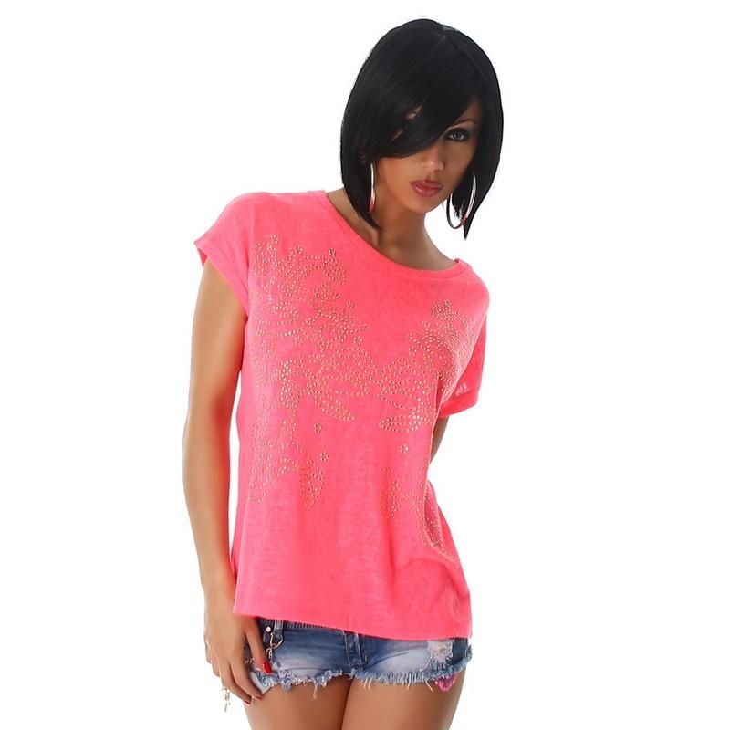 cb4d8a00e5f Dámské neonové tričko - EU - Trička a halenky