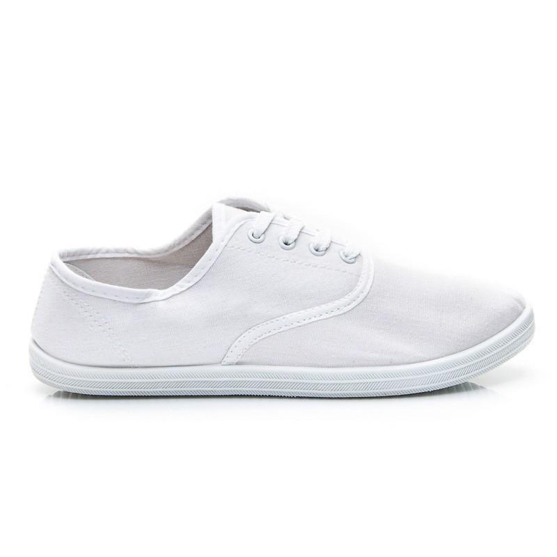 Bílé plátěné tenisky - WIND - Tenisky 446f456ac8