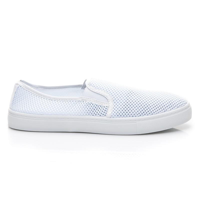 Elastické bílé nazouvací boty - BALADA - Tenisky 368e442672