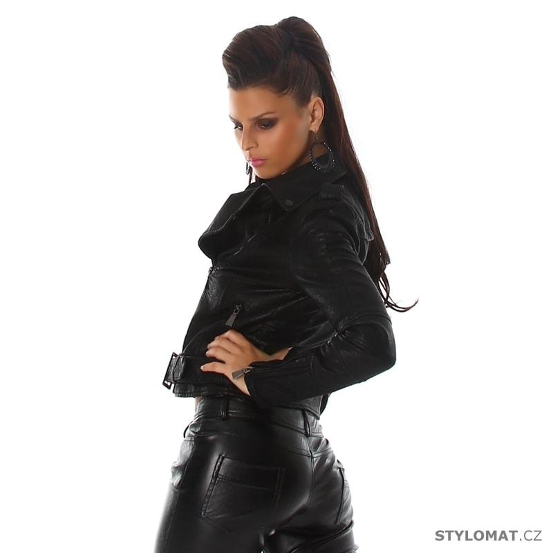 ... Jarní bundy    Dámská černá koženková bunda - křivák. Previous  Next ea2dcd1b750