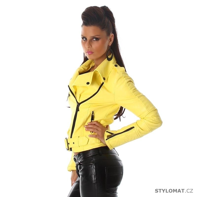 ... Jarní bundy    Dámská žlutá koženková bunda - křivák. Previous  Next 827e174c07b