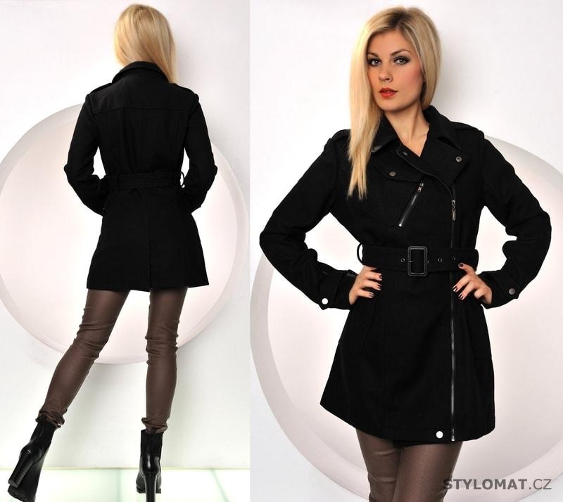 Černý jarní kabátek na zip - Fashion - Kabáty a kabátky 4cf11d3868