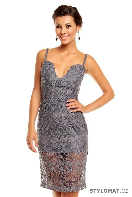 8f4b0bb755f Stříbrné koktejlové šaty - Mayaadi - Party a koktejlové šaty