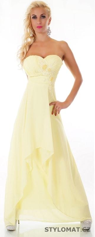 Žluté plesové šaty - EU - Dlouhé společenské šaty a73aedcd7f