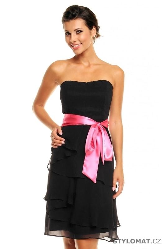 f39c2d22c557 Dámské černé koktejlové šaty - Mayaadi - Krátké společenské šaty