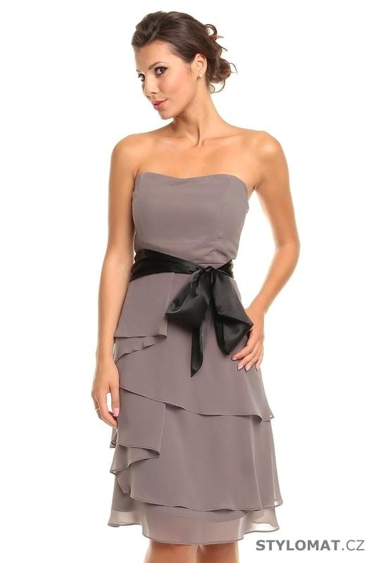 96ecbc384e6 Dámské šedé koktejlové šaty - Mayaadi - Krátké společenské šaty