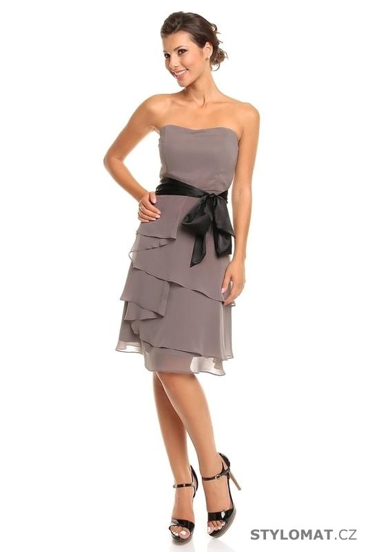 271d64fe3d3 Dámské šedé koktejlové šaty - Mayaadi - Krátké společenské šaty