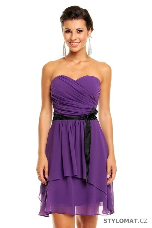 Dámské fialové koktejlové šaty - Mayaadi - Krátké společenské šaty 3e33ff9ddc