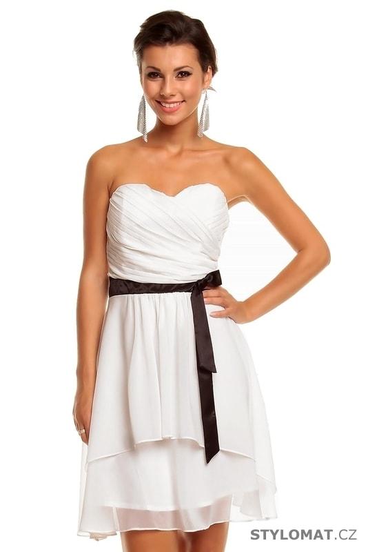 Dámské bílé koktejlové šaty - Mayaadi - Krátké společenské šaty ee31bca6b1