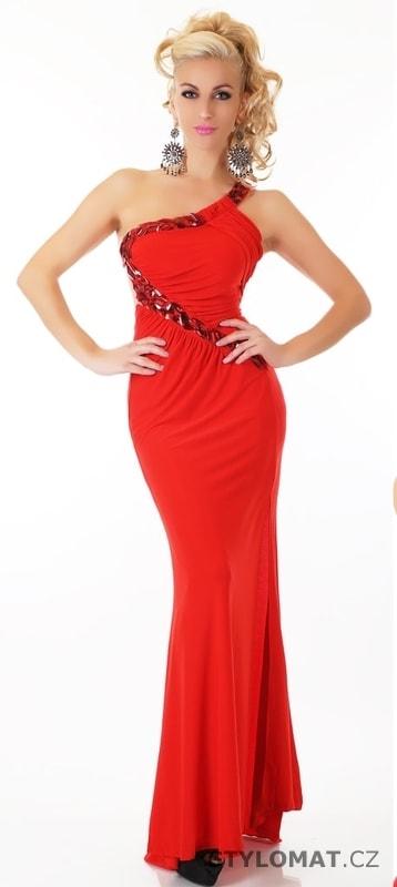 Dlouhé červené plesové šaty - EU - Dlouhé společenské šaty 36ef0540ff4