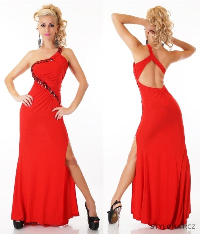... Dlouhé společenské šaty    Dlouhé červené plesové šaty. Previous  Next 1298fe47f05