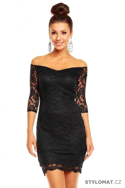 c67fb40d6c1 Společenské černé krajkové šaty - Mayaadi - Party a koktejlové šaty