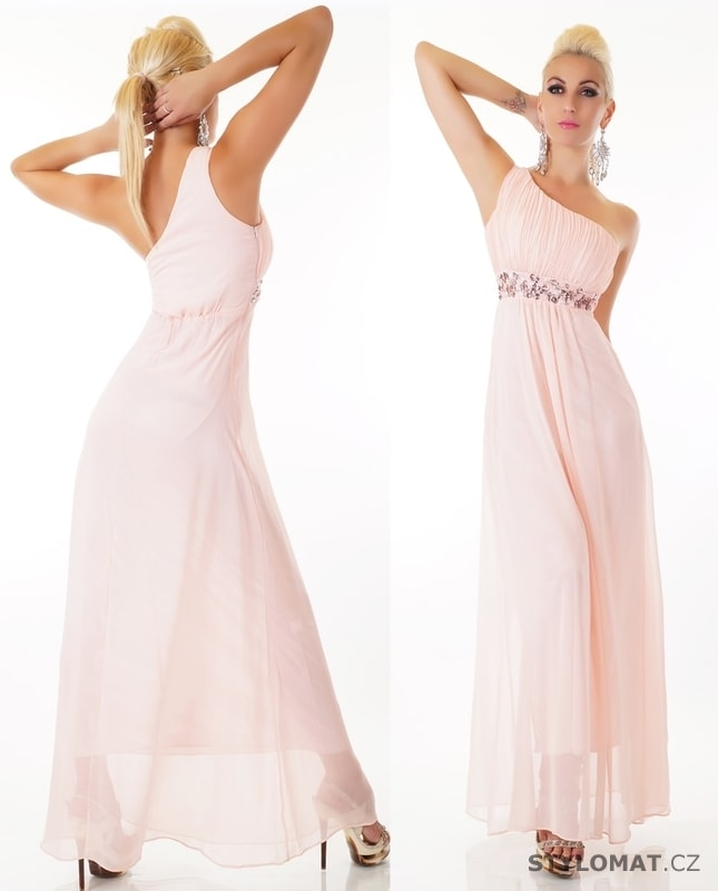 Dlouhé růžové společenské šaty - EU - Dlouhé společenské šaty 7f1e348de89