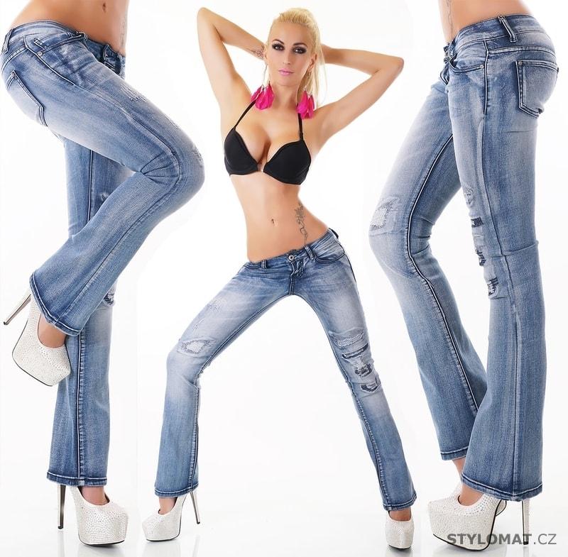 5ef847a76c5 Dámské džíny zvonové - EU - Jeansy