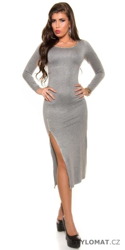 Dámské dlouhé úpletové šaty - Koucla - Úpletové šaty 880609d9ef
