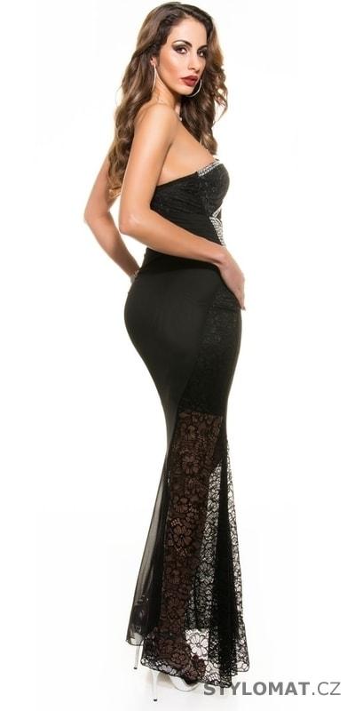 364125d7e08 Krajkové černé dlouhé šaty - Koucla - Dlouhé společenské šaty