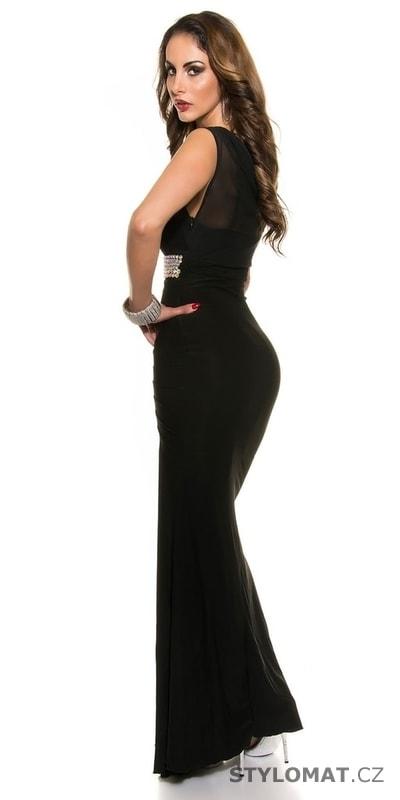 Dámské černé šaty na ples - Koucla - Dlouhé společenské šaty 6b5d0663c7e