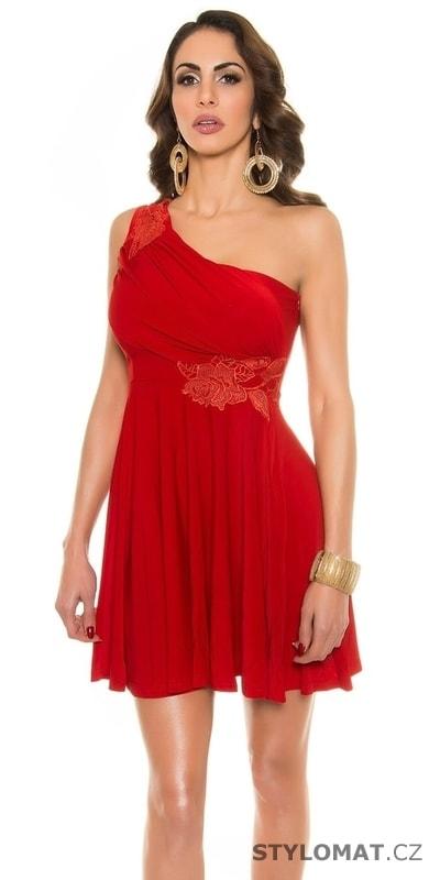 Dámské krátké červené šaty - Koucla - Krátké letní šaty fc3463f833