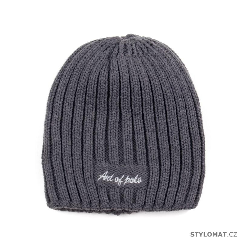 Pánská zimní čepice šedá - Art of Polo - Pánské klobouky a kšiltovky 975c71a88c