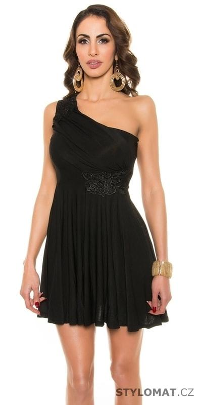 a97251a7704 Černé plesové šaty krátké - Koucla - Krátké letní šaty