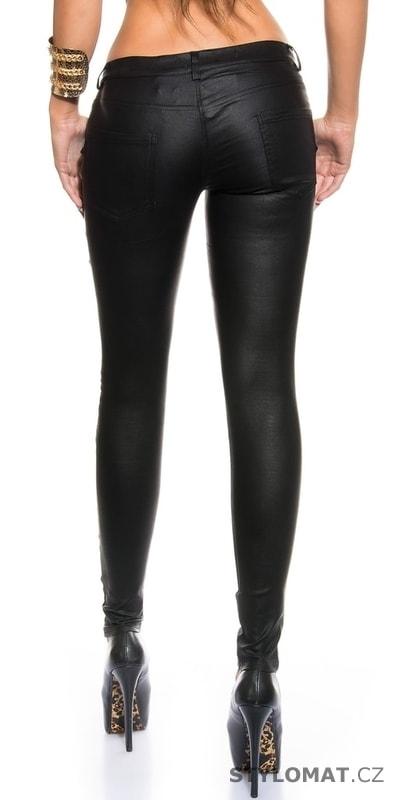 Koženkové dámské kalhoty černé - Koucla - Kalhoty 245c712334