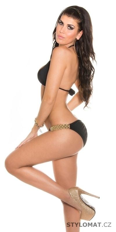 ... Dvoudílné plavky    Černozlaté leopardí dámské bikiny. Previous  Next 11f684875a