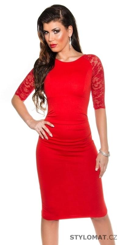 Elegantní pouzdrové šaty červené - Koucla - Party a koktejlové šaty 6eb22c8198