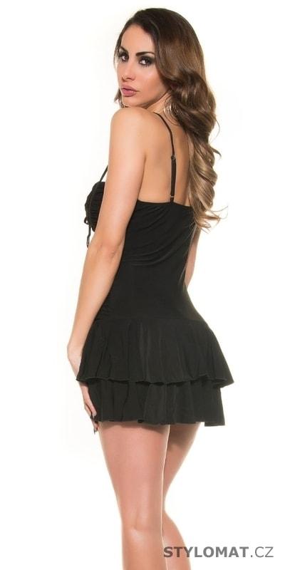 d2d970ebb51 Letní černé šaty se šnerováním - Koucla - Krátké letní šaty