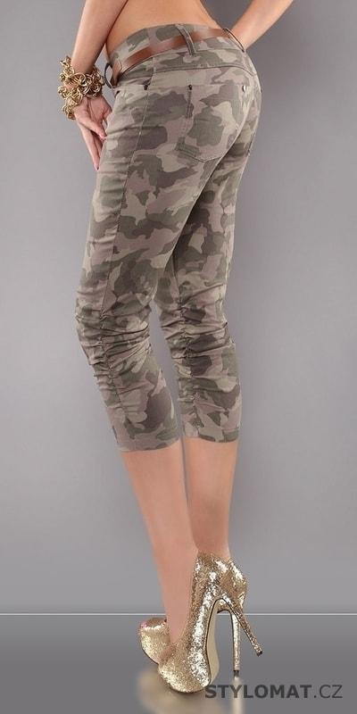250553d1587 Army dámské kalhoty s páskem - Koucla - Volnočasové kalhoty