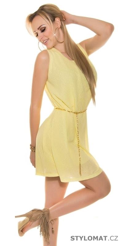 06d970bce85 Vzdušné letní šaty s páskem - Koucla - Krátké letní šaty
