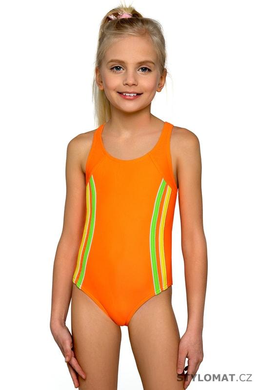 Dívčí plavky Klárka neonové - Lorin - Dětské plavky d48ad78bc5