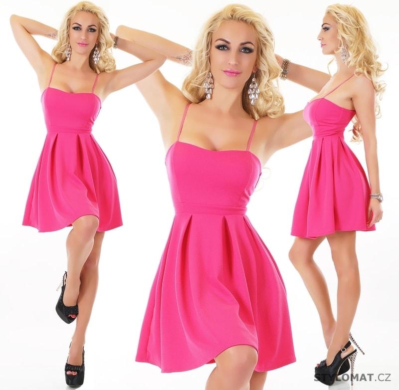 971157d0631 Růžové letní šaty - EU - Krátké letní šaty