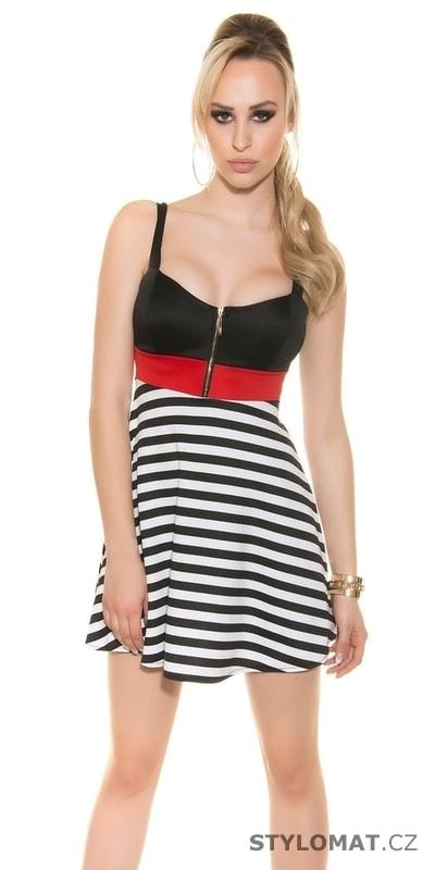 Letní proužkované šaty - Koucla - Krátké letní šaty 2a611046a3