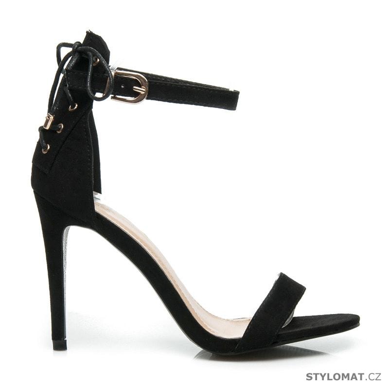 1c491c4ed47 Sexy sandály na vysokém podpatku černé - VICES - Sandále